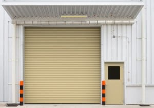 Image of newly installed commercial garage doors