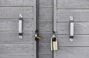 Garage door padlocks