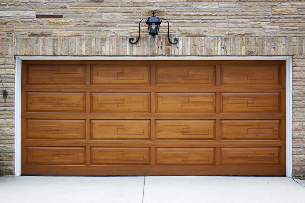 wood vs faux garage door